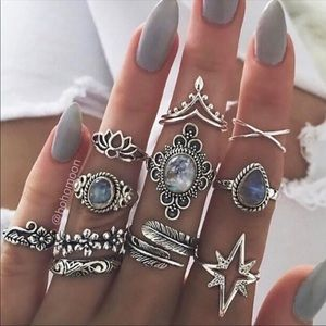 Jewelry - 11 Piece Boho Ring Set